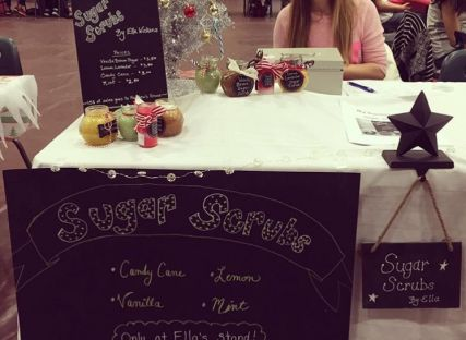 Ella at her sales stand